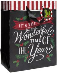 Most Wonderful Time Medium Vertical Bag w/ Gift Tag