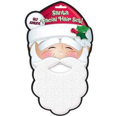 Santa Plush Facial Hair Set