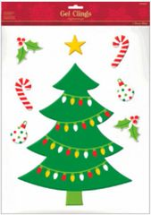 Christmas Tree Gel Cling Decals