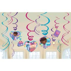 ©Disney Doc McStuffins Foil Swirl Value Pack Decorations