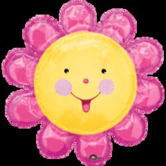 "Chatterbox Pink Flower Super Shape Balloon 29"""
