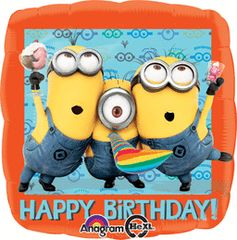 Despicable Me Happy Birthday 18in