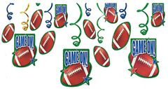 Football Value Pack Foil Swirl Decorations