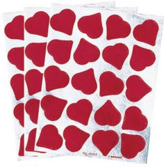 Foil Heart Stickers, 60ct