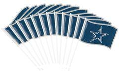Dallas Cowboys Plastic Flag, 12ct