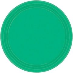 """Festive Green Lunch Plates, 9"""" - 20ct"""
