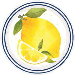"Lemons Dessert Plates, 7"" - 8ct"