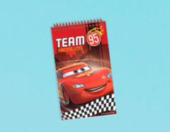 ©Disney Cars Formula Racer Notepad Favor