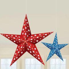 3D Patriotic Folding Paper Stars