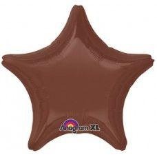 Star 42 Chocolate Brown Mylar Balloon 18in