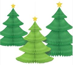 Christmas Tree Honeycomb Hanging Decoration