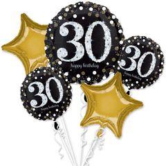 Sparkling Celebration 30th Birthday Balloon Bouquet