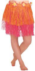 Adult XL Orange & Pink Mini Hula Skirt