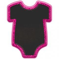 Baby Girl Bodysuit Easel - Pink