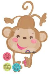 Fisher Price Monkey-Super Shape Balloon 40""