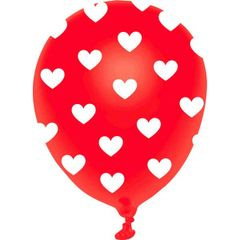 All-Over Print Heart Latex Balloon