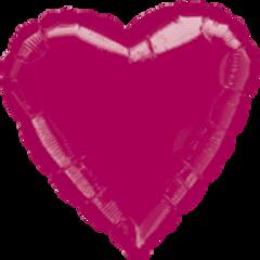 Heart 39 Burgundy Mylar Balloon 18in