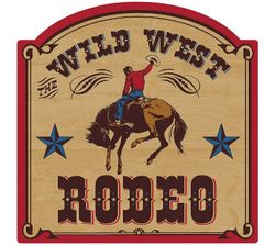 Yeehaw Western Wild West Rodeo Cutout