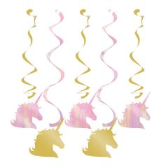 Unicorn Sparkle Swirl Decorations