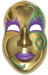 3-D Gold Mardi Gras Mask Decoration