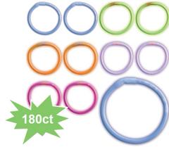 Multi-Color Glow Bracelets, 180ct