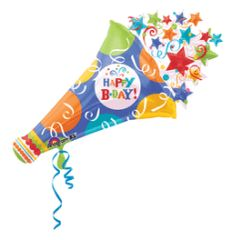 Happy B-Day! Super Shape Horn Balloon 40""