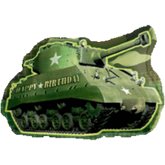 Army Tank Birthday Super Shape Balloon 26""