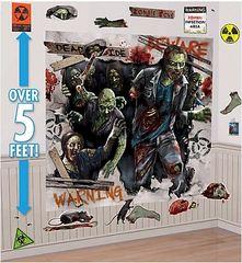 Zombie Scene Setters®Mega Value Wall Decorating Kit