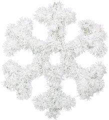 Snowflake Hanging Tinsel Decoration