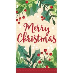 Merry Holly Day Guest Towels