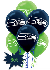 Seattle Seahawks Printed Latex Balloons, 6ct