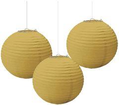 Gold Paper Lanterns, 3ct