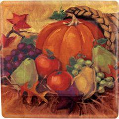 Harvest Still Life Square Dessert Plates