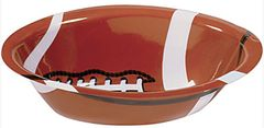 "Football Plastic Fan Bowl, 14 1/2"" x 10"""