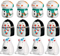 Winter Plastic Finger Puppets