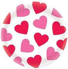 """Valentine Round Plastic Platter, 13 1/2"""""""