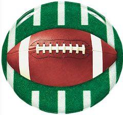 Football Round Plastic Platter