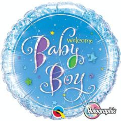 Welcome Baby Boy Stars 18in