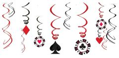 Place Your Bets Casino Swirl Decorations, 12ct
