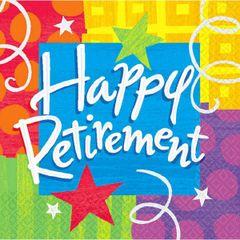 Happy Retirement Beverage Napkins 16ct