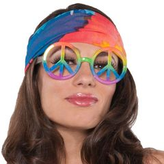 Hippie Peace Symbol Glasses