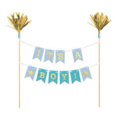 """It's A Boy"" Cake Banner Pick"