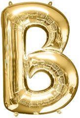 "Gold Letter B - 34"" Mylar Balloon"