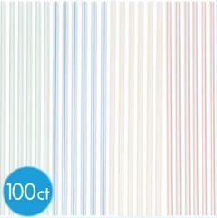 Striped Straws, 100ct