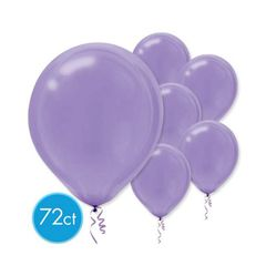 New Purple Solid Color Latex Balloons, 72ct