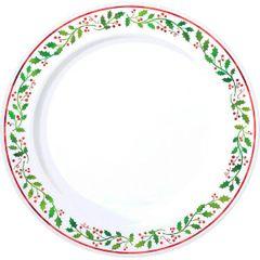 """Christmas Round Plates, 7 1/2"""""""