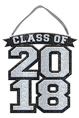 """2018"" Class of 2018 Sign - Silver"