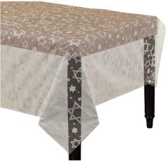 Star of David Clear Plastic Table Cover