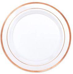 "White Rose Gold Premium Lunch Plates, 7 1/2"" - 20ct"