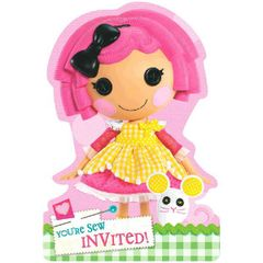 Lalaloopsy Folded Die Cut Invitations